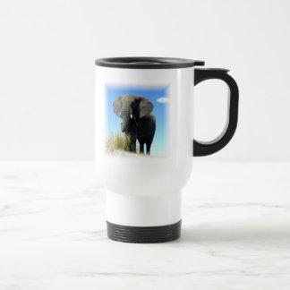 African Elephant Plastic Travel Mug