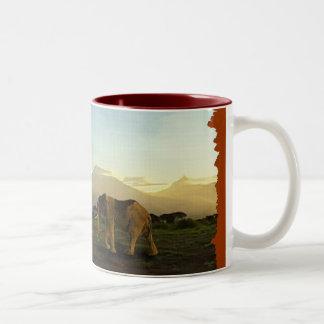 African Elephant Series Two-Tone Coffee Mug