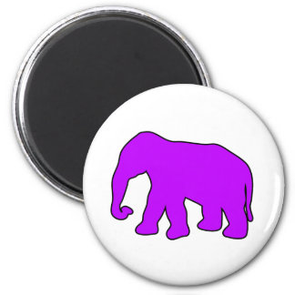 African Elephant Silhouette Ivory Tusks Dumbo 6 Cm Round Magnet