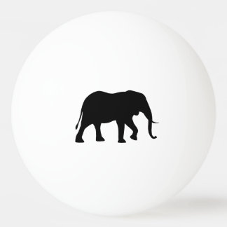 African Elephant Silhouette Ping Pong Ball