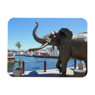 African Elephant statue in Cape Town Vinyl Magnet
