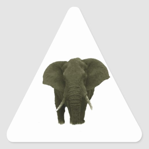 African Elephant Triangle Stickers
