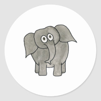 African Elephant. Round Stickers