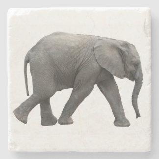 African elephant stone coaster