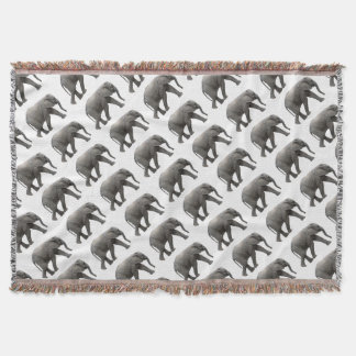 African Elephant Throw Blanket