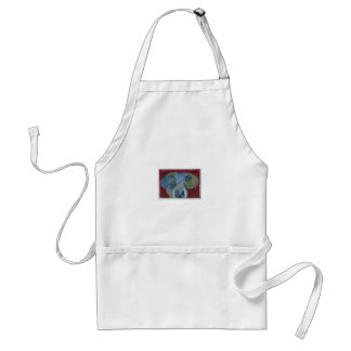 African Elephant via watercolor aceo animal art Standard Apron