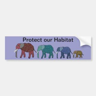 African Elephant Walk Bumper Sticker