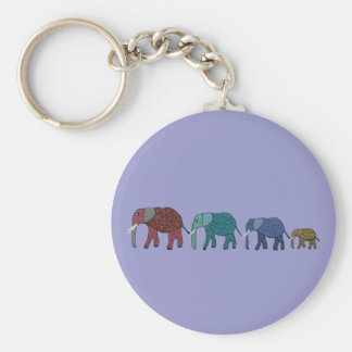 African Elephant Walk Key Ring