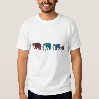African Elephant Walk Tees