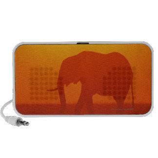 African elephant walking at sunset , Kenya , Speaker