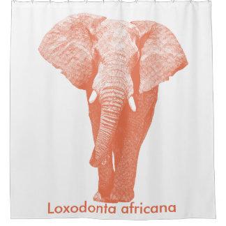 African Elephant Walking: Burnt Sienna Shower Curtain