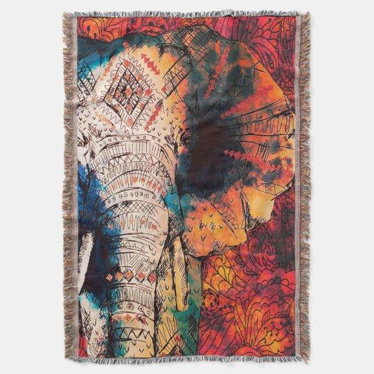 African Elephant Warm Throw Blanket