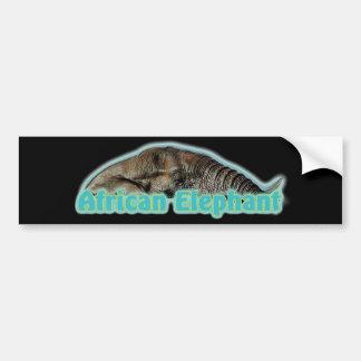 African elephant wildlife safari bumper stickers