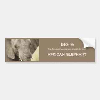 African elephant wildlife safari stickers bumper sticker