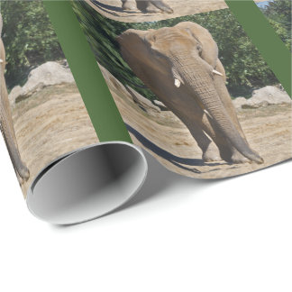 African Elephant Wrapping Paper
