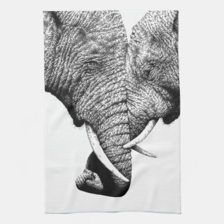 African Elephants American MoJo Kitchen Towels