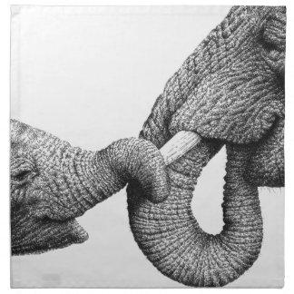 African Elephants American MoJo Napkins