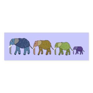 African Elephants Bookmarks Pack Of Skinny Business Cards
