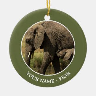 African Elephants Christmas Ornament