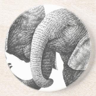 African Elephants Coaster