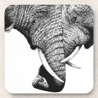 African Elephants Cork Coaster