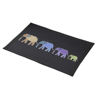 African Elephants Custom Placemats