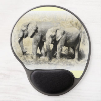 African Elephants Gel Mouse Pad