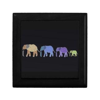 African Elephants Jewelry Box