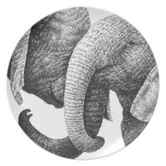 African Elephants Plate