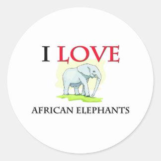 AFRICAN ELEPHANTS ROUND STICKER