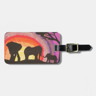 African Elephants @ Sunset (Kimberly Turnbull Art) Luggage Tag