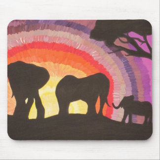African Elephants Sunset (Kimberly Turnbull Art) Mouse Mat
