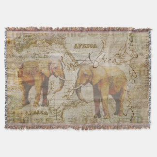 African Elephants Throw Blanket