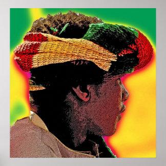 African Ethiopian Portrait taken in Egypt Posters