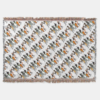 African Ethnic Native tribal design Throw Blanket
