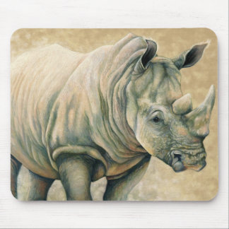 African Expressions - White Rhino Mouse Mat