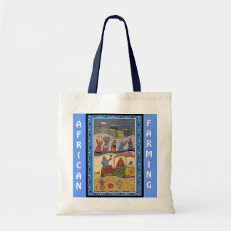 African farming tote bag