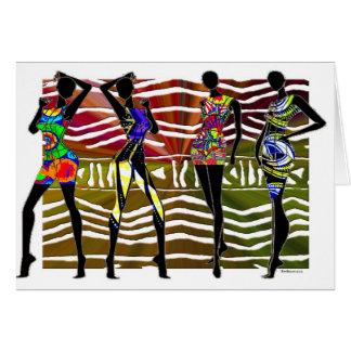 african fashion card