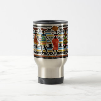African Feast 15 Oz Stainless Steel Travel Mug