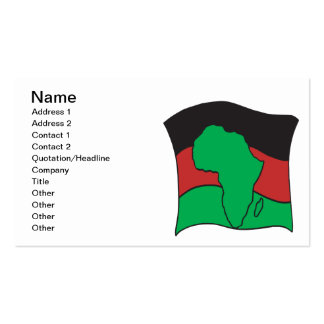 African Flag Double-Sided Standard Business Cards (Pack Of 100)