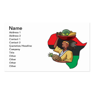 African Food Double-Sided Standard Business Cards (Pack Of 100)