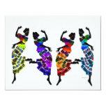 "African Foot Dance 4.25"" X 5.5"" Invitation Card"