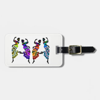 African Foot Dance Luggage Tag