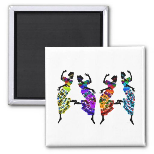 African Foot Dance Refrigerator Magnets