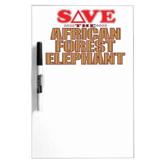 African For Elephant Save Dry Erase Board