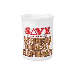 African For Elephant Save Pitcher