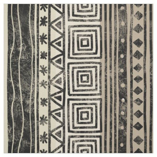 African Geometric Pattern Fabric