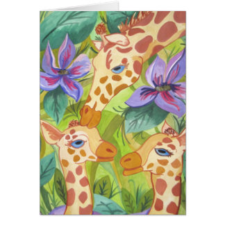 African Giraffe Kisses (Kimberly Turnbull Art) Card