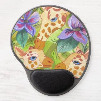 African Giraffe Kisses (Kimberly Turnbull Art) Gel Mouse Mat