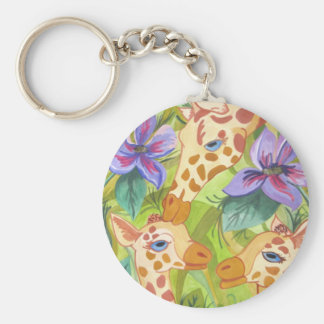 African Giraffe Kisses (Kimberly Turnbull Art) Key Ring